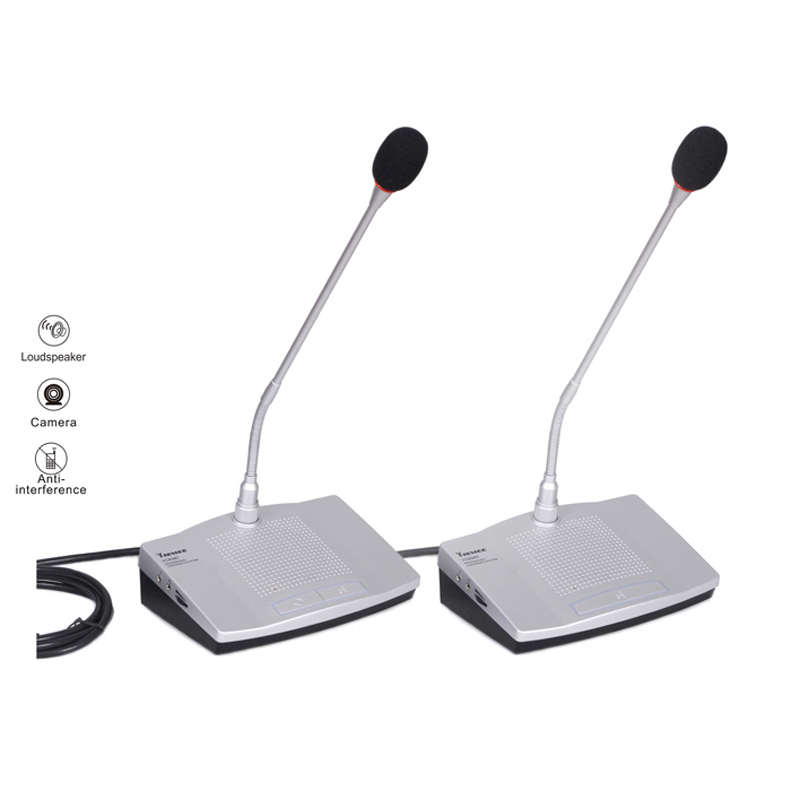 YC834 wired conference system discussion built-in speaker video tracking