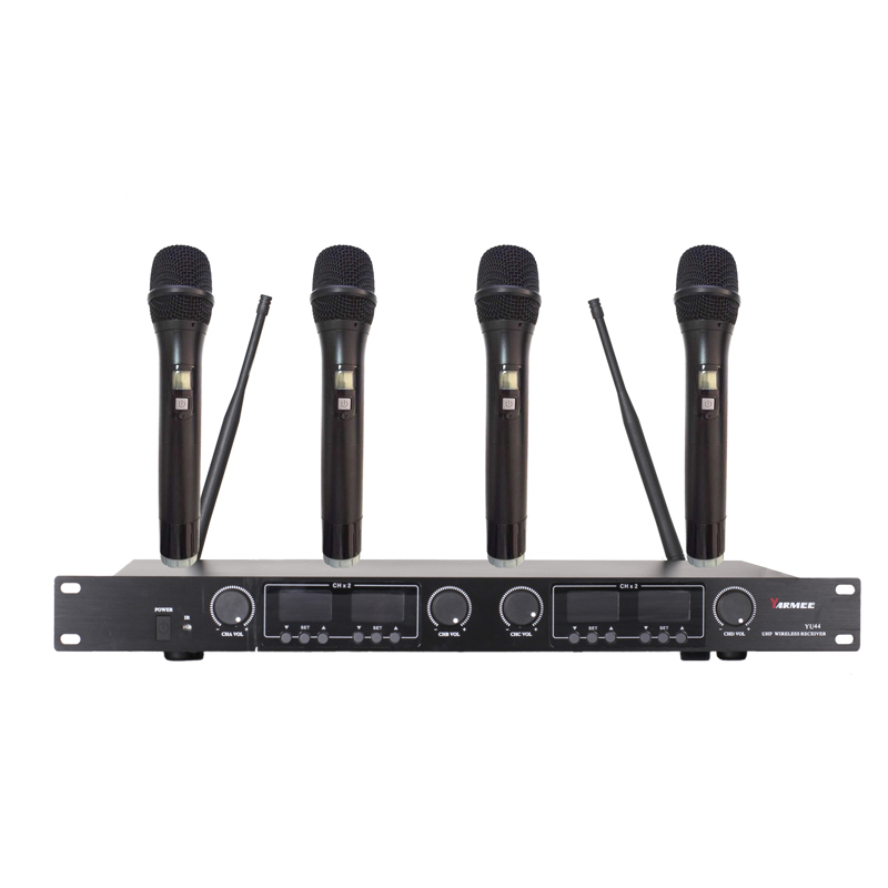 YU44 4 channels uhf wireless microphone