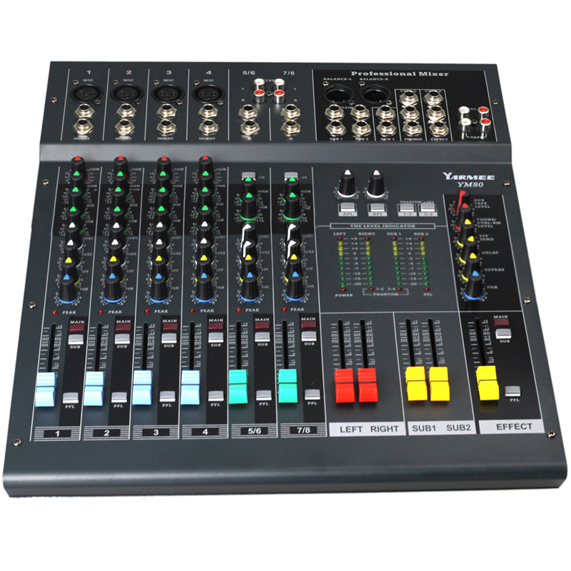 8 channels audio mixer YM80